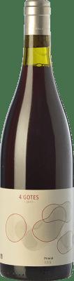 9,95 € Envío gratis | Vino tinto Portal del Priorat 4 Gotes Joven D.O.Ca. Priorat Cataluña España Garnacha, Garnacha Tintorera, Garnacha Peluda, Garnacha Gris Botella 75 cl