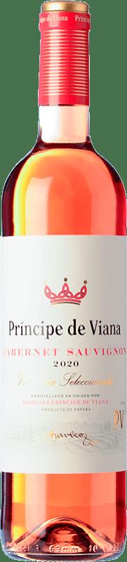 5,95 € Free Shipping | Rosé wine Príncipe de Viana Cabernet Sauvignon Joven D.O. Navarra Navarre Spain Merlot, Cabernet Sauvignon Bottle 75 cl