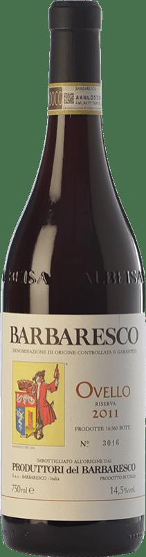 42,95 € Envío gratis | Vino tinto Produttori del Barbaresco Ovello D.O.C.G. Barbaresco Piemonte Italia Nebbiolo Botella 75 cl