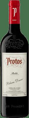 9,95 € Free Shipping | Red wine Protos Roble D.O. Ribera del Duero Castilla y León Spain Tempranillo Bottle 75 cl