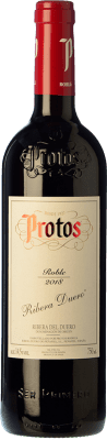 8,95 € Free Shipping | Red wine Protos Roble Joven D.O. Ribera del Duero Castilla y León Spain Tempranillo Bottle 75 cl | Thousands of wine lovers trust us to get the best price guarantee, free shipping always and hassle-free shopping and returns.