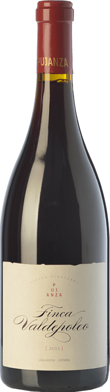 22,95 € Envío gratis | Vino tinto Pujanza Finca Valdepoleo Crianza D.O.Ca. Rioja La Rioja España Tempranillo Botella 75 cl