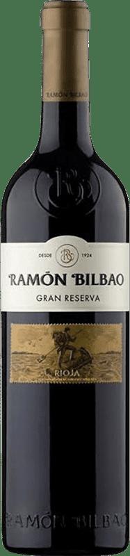 19,95 € Envío gratis | Vino tinto Ramón Bilbao Gran Reserva D.O.Ca. Rioja La Rioja España Tempranillo, Garnacha, Graciano Botella 75 cl