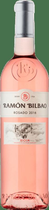 7,95 € Spedizione Gratuita | Vino rosato Ramón Bilbao D.O.Ca. Rioja La Rioja Spagna Grenache Bottiglia 75 cl