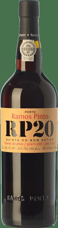 61,95 € Envío gratis | Vino generoso Ramos Pinto 20 Anos Quinta do Bom Retiro I.G. Porto Porto Portugal Touriga Franca, Touriga Nacional, Tinta Roriz, Tinta Cão, Tinta Barroca Botella 75 cl