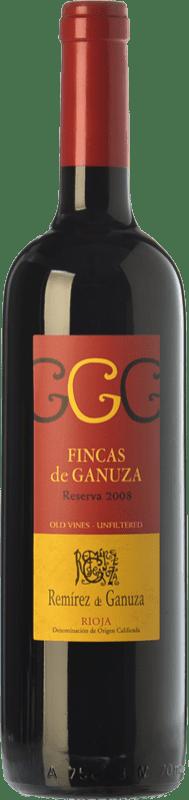 29,95 € Envío gratis | Vino tinto Remírez de Ganuza Fincas de Ganuza Reserva D.O.Ca. Rioja La Rioja España Tempranillo, Graciano Botella 75 cl