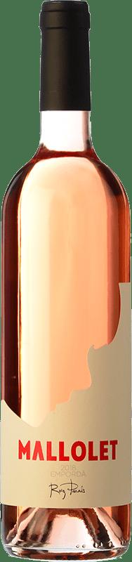 9,95 € Envoi gratuit | Vin rose Roig Parals Mallolet Rosa Joven D.O. Empordà Catalogne Espagne Grenache Bouteille 75 cl