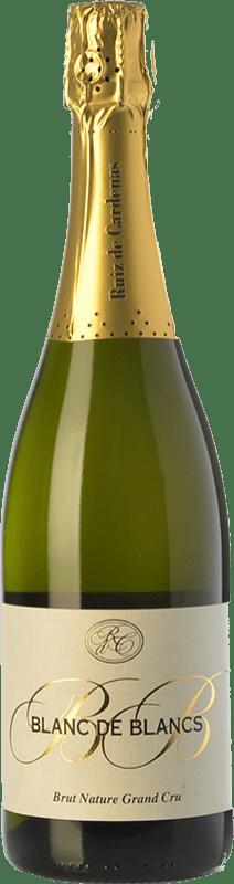 26,95 € Free Shipping | White sparkling Ruiz de Cardenas BdB Grand Cru Brut Nature Italy Chardonnay Bottle 75 cl
