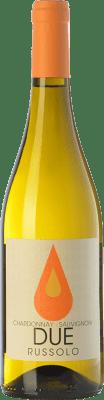 9,95 € Free Shipping | White wine Russolo Due Bianco I.G.T. Friuli-Venezia Giulia Friuli-Venezia Giulia Italy Chardonnay, Sauvignon Bottle 75 cl