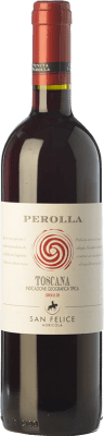 9,95 € Free Shipping | Red wine San Felice Perolla Rosso I.G.T. Toscana Tuscany Italy Merlot, Cabernet Sauvignon, Sangiovese, Ciliegiolo Bottle 75 cl
