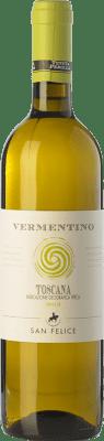 8,95 € Free Shipping | White wine San Felice Perolla Vermentino I.G.T. Toscana Tuscany Italy Sauvignon, Vermentino Bottle 75 cl