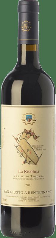 45,95 € Envío gratis | Vino tinto San Giusto a Rentennano La Ricolma I.G.T. Toscana Toscana Italia Merlot Botella 75 cl
