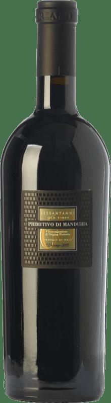 63,95 € Envío gratis | Vino tinto San Marzano Sessantanni D.O.C. Primitivo di Manduria Puglia Italia Primitivo Botella Mágnum 1,5 L