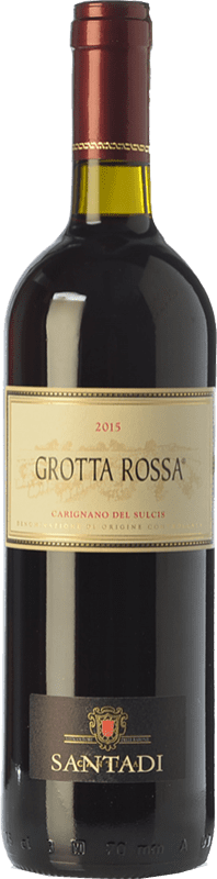 9,95 € Free Shipping | Red wine Santadi Carignano del Sulcis Grotta Rossa D.O.C. Carignano del Sulcis Sardegna Italy Carignan Bottle 75 cl