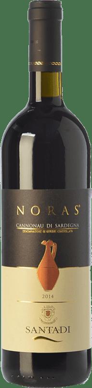 11,95 € Envoi gratuit | Vin rouge Santadi Noras D.O.C. Cannonau di Sardegna Sardaigne Italie Cannonau Bouteille 75 cl