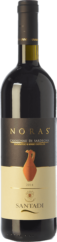 11,95 € Envío gratis | Vino tinto Santadi Noras D.O.C. Cannonau di Sardegna Sardegna Italia Cannonau Botella 75 cl