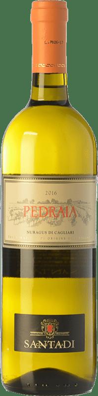 7,95 € Envío gratis | Vino blanco Santadi Pedraia D.O.C. Nuragus di Cagliari Sardegna Italia Nuragus Botella 75 cl