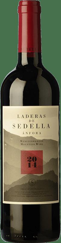 15,95 € Free Shipping | Red wine Sedella Laderas Crianza D.O. Sierras de Málaga Andalusia Spain Grenache, Romé, Muscatel Bottle 75 cl
