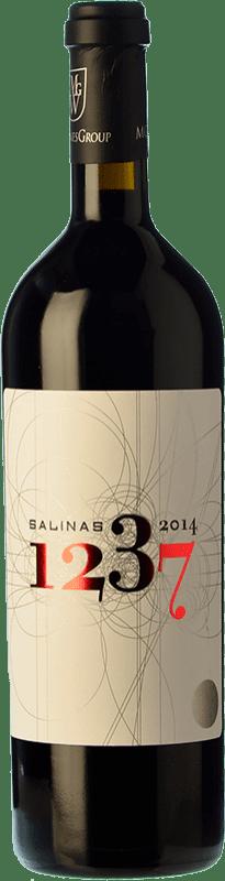 74,95 € Free Shipping | Red wine Sierra Salinas 1237 Reserva 2009 D.O. Alicante Valencian Community Spain Cabernet Sauvignon, Monastrell, Grenache Tintorera Bottle 75 cl