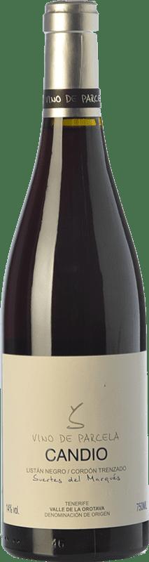 31,95 € Envío gratis | Vino tinto Soagranorte Suertes del Marqués Candio Crianza D.O. Valle de la Orotava Islas Canarias España Listán Negro Botella 75 cl