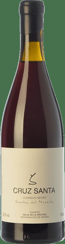 31,95 € Free Shipping | Red wine Soagranorte Suertes del Marqués Cruz Santa Crianza D.O. Valle de la Orotava Canary Islands Spain Vijariego Black Bottle 75 cl