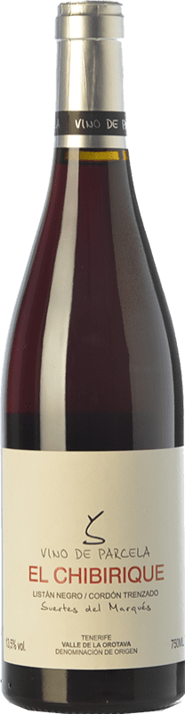 31,95 € Free Shipping | Red wine Soagranorte Suertes del Marqués El Chibirique Joven D.O. Valle de la Orotava Canary Islands Spain Listán Black Bottle 75 cl