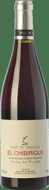 31,95 € Envío gratis | Vino tinto Soagranorte Suertes del Marqués El Chibirique Joven D.O. Valle de la Orotava Islas Canarias España Listán Negro Botella 75 cl