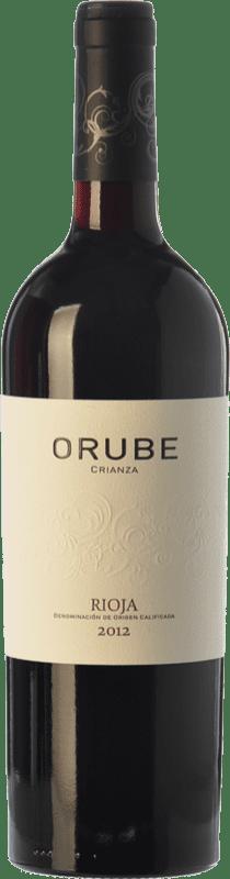 9,95 € Free Shipping | Red wine Solar Viejo Orube Crianza D.O.Ca. Rioja The Rioja Spain Tempranillo, Grenache, Graciano Bottle 75 cl