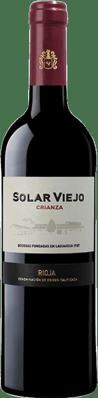 7,95 € Free Shipping | Red wine Solar Viejo Crianza D.O.Ca. Rioja The Rioja Spain Tempranillo Bottle 75 cl