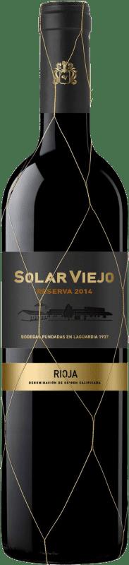13,95 € Free Shipping | Red wine Solar Viejo Reserva D.O.Ca. Rioja The Rioja Spain Tempranillo, Graciano Bottle 75 cl