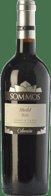 17,95 € Kostenloser Versand | Rotwein Sommos Colección Crianza D.O. Somontano Aragón Spanien Merlot Flasche 75 cl