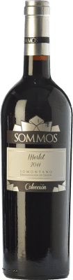 17,95 € Envoi gratuit | Vin rouge Sommos Colección Crianza D.O. Somontano Aragon Espagne Merlot Bouteille 75 cl