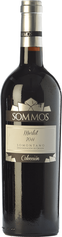 17,95 € Free Shipping | Red wine Sommos Colección Crianza D.O. Somontano Aragon Spain Merlot Bottle 75 cl