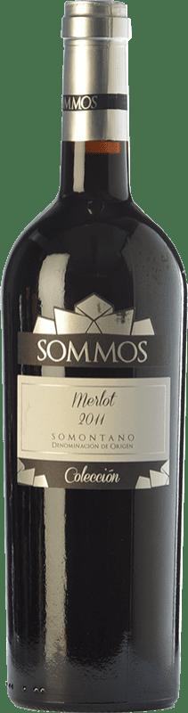 17,95 € Envío gratis | Vino tinto Sommos Colección Crianza D.O. Somontano Aragón España Merlot Botella 75 cl