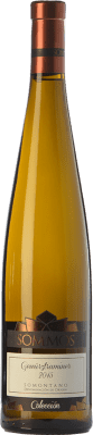 11,95 € Envío gratis | Vino blanco Sommos Colección Crianza D.O. Somontano Aragón España Gewürztraminer Botella 75 cl