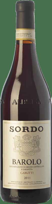 48,95 € Envoi gratuit | Vin rouge Sordo Gabutti D.O.C.G. Barolo Piémont Italie Nebbiolo Bouteille 75 cl