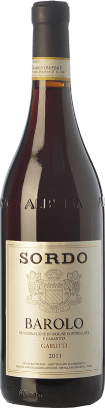 48,95 € Envío gratis   Vino tinto Sordo Gabutti D.O.C.G. Barolo Piemonte Italia Nebbiolo Botella 75 cl