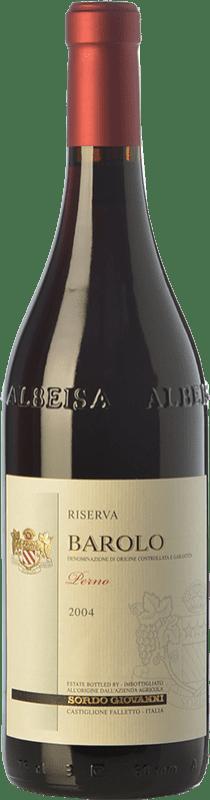 53,95 € Free Shipping | Red wine Sordo Perno Riserva Reserva 2004 D.O.C.G. Barolo Piemonte Italy Nebbiolo Bottle 75 cl