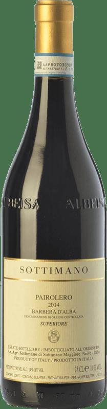 24,95 € Free Shipping | Red wine Sottimano Pairolero D.O.C. Barbera d'Alba Piemonte Italy Barbera Bottle 75 cl