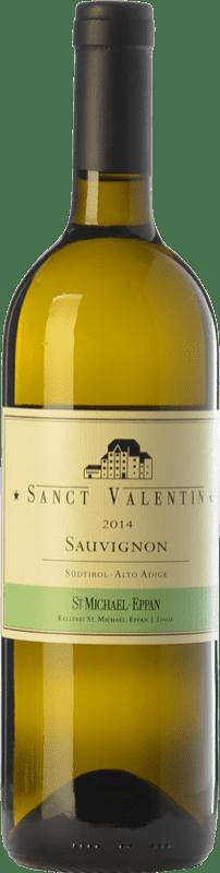 27,95 € Envío gratis | Vino blanco St. Michael-Eppan Sanct Valentin D.O.C. Alto Adige Trentino-Alto Adige Italia Sauvignon Blanca Botella 75 cl