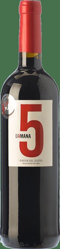 8,95 € Free Shipping | Red wine Tábula Damana 5 Joven D.O. Ribera del Duero Castilla y León Spain Tempranillo, Cabernet Sauvignon Bottle 75 cl