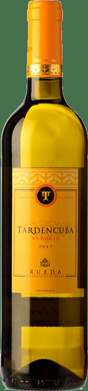 6,95 € Envío gratis | Vino blanco Tardencuba Joven D.O. Rueda Castilla y León España Verdejo Botella 75 cl