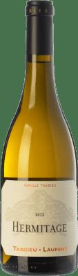 67,95 € Free Shipping | White wine Tardieu-Laurent Blanc Crianza A.O.C. Hermitage Rhône France Roussanne, Marsanne Bottle 75 cl