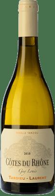 27,95 € Envío gratis | Vino blanco Tardieu-Laurent Guy Louis Blanc Crianza I.G.P. Vin de Pays Rhône Rhône Francia Garnacha Blanca, Roussanne, Viognier, Marsanne Botella 75 cl
