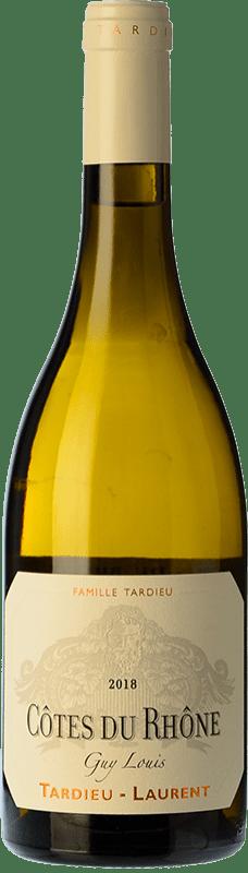 27,95 € Free Shipping | White wine Tardieu-Laurent Guy Louis Blanc Crianza I.G.P. Vin de Pays Rhône Rhône France Grenache White, Roussanne, Viognier, Marsanne Bottle 75 cl