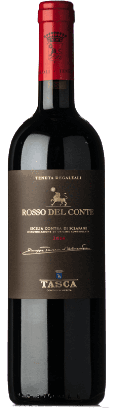 47,95 € Free Shipping | Red wine Tasca d'Almerita Rosso del Conte D.O.C. Contea di Sclafani Sicily Italy Nero d'Avola Bottle 75 cl