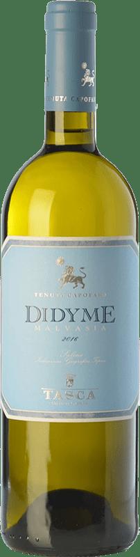 17,95 € Envío gratis | Vino blanco Tasca d'Almerita Malvasia Secca Dydime I.G.T. Salina Sicilia Italia Malvasía delle Lipari Botella 75 cl