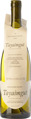 17,95 € Free Shipping | White wine Tayaimgut Blanc Crianza D.O. Penedès Catalonia Spain Sauvignon White Bottle 75 cl