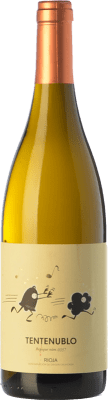 16,95 € Free Shipping | White wine Tentenublo Crianza D.O.Ca. Rioja The Rioja Spain Viura, Malvasía Bottle 75 cl