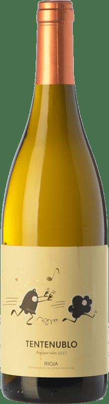 16,95 € Envío gratis | Vino blanco Tentenublo Crianza D.O.Ca. Rioja La Rioja España Viura, Malvasía Botella 75 cl